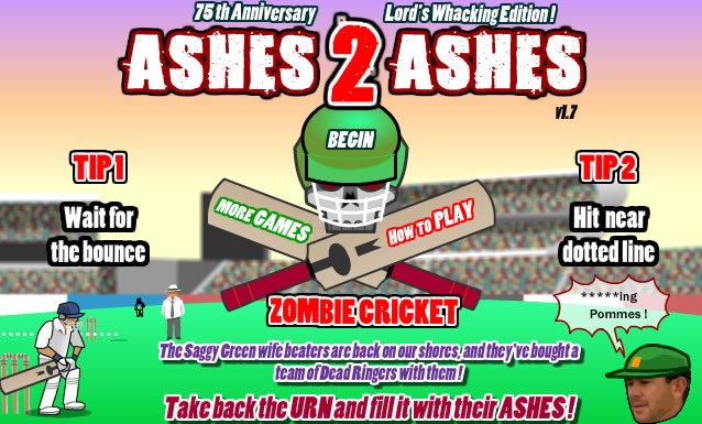 ashes2ashes zombie cricket